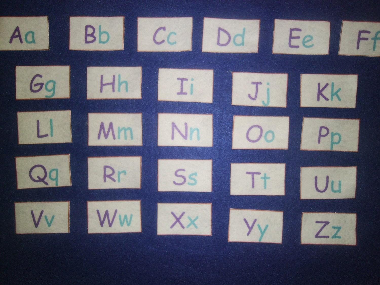 Alphabet letters alphabet felt board felt letters abc felt for Flannel board letters