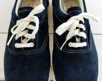 Vintage Chris Croft  Suede Boat Shoes Womens 7.5