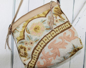 RESERVRD For Meg Vintage Tapestry Purse
