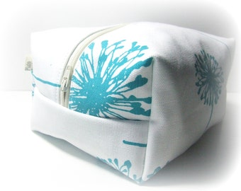 Turquoise Makeup Bag  - Cosmetic Pouch -  Lunch Bag - Wet Bag -Waterproof Bag