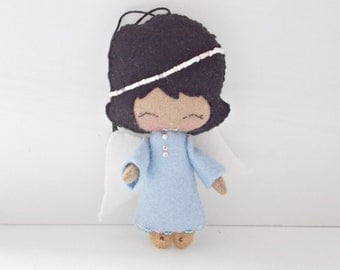 Angel Ornament - Felt Doll - Holiday Ornament - Christmas Decoration