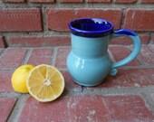 Turquoise Gloss and Cobalt Blue Mug