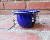 Cobalt Blue Earring Jewelry Holder Bowl