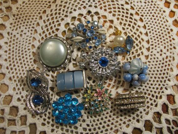 Vintage Mismatched Earrings Lot for Parts Crafts Rhinestone Juliana Destashed