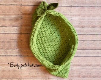 Newborn Pea Pod Crochet Photo Prop