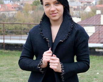 Sale half price, Felted Jacket for Women, one of a kind handmade jacket