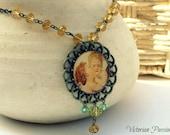 L'Amour et Psyché -  Victorian style necklace