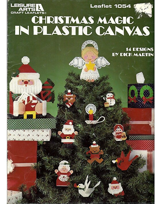 Christmas Magic In Plastic Canvas Pattern Book Leisure Arts Leaflet 1054