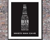 Man Cave Beer Lover Custom Digital Art File