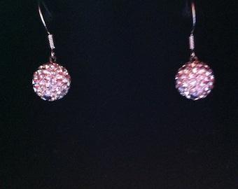 Crystal Sparkle Ball Earrings