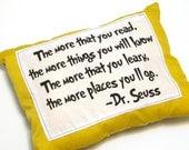 Dr. Seuss quote pillow