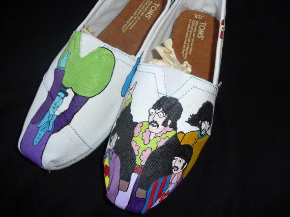 Custom Hand Painted Shoes - Beatle's Yellow Submarine