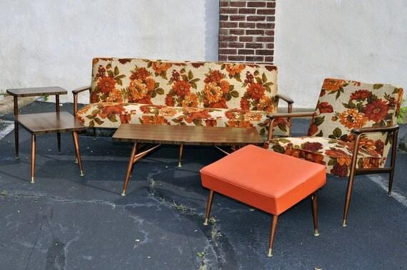 SALE 60s Mid-Century 5 Piece Viko Baumritter Living Room Group Ethan Allen
