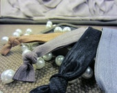 The Basics - Elastic Hair Bands - Chocolate, Stone, Black, Grey