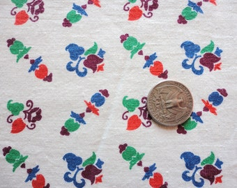 abstract floral print vintage full feedsack fabric
