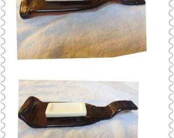Brown Glass Beer Bottle Soap Dish Soap Holder