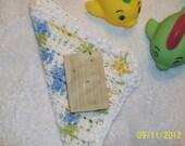 Baby Boy or Girl bath set, 100% cotton wash cloth. 2 ounce bar of cold process Lavender soap. Baby or toddler bath set.