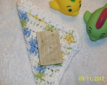 Baby Boy or Girl bath set, 100% cotton wash cloth. 2 ounce bar of cold process Lavender soap. Baby or toddler bath set.