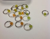 Lemons, Limes, and Clementines Stitch Markers