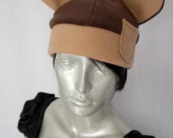 Brown Bear Fleece Hat