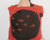 Wrap Conversion mei tai baby carrier from Girasol Coral and Didymos Fire Fishes wraps.