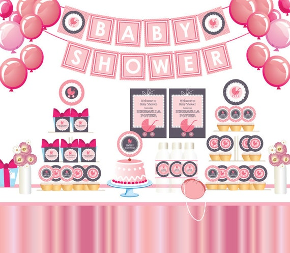 Stroller Baby Shower Decorations 570 x 497