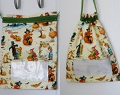 Retro Witch Print: Fully Lined Drawstring Window Bag