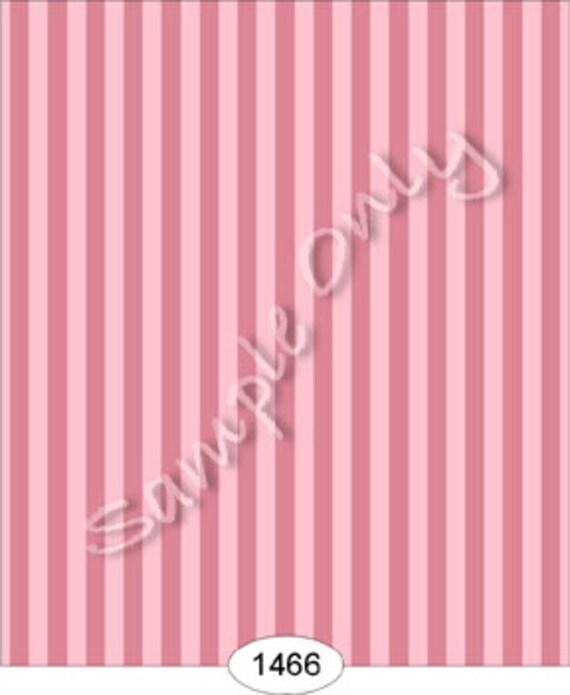 "Dollhouse Miniature Wallpaper, ""Coco"", A Parisian Pink Stripe, Scale One Inch"