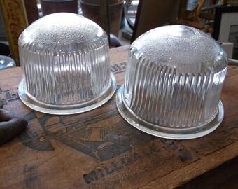 Pair of Vintage Kopp Runway Light Lenses - Industrial Lighting - NOS