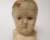 Antique Composition Baby Doll Head Distressed Creepy