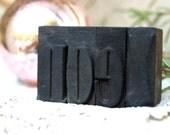 RESERVED for Deborah. S.A.L.E.: 15% off Vintage antique letterpress grouping, N.O.E.L.