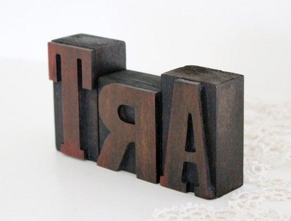 Letterpress Letters ART