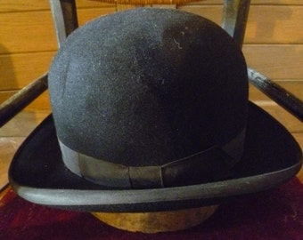 Vintage Bowler Derby Hat Hand Made By Mossant Circa 1925 Original Parisian Chic