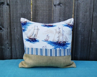 Sail boat Pillow Cover 20 x 20 Inch