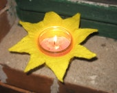 "felted candle light, candle light, star, felt, christmas, 7"","