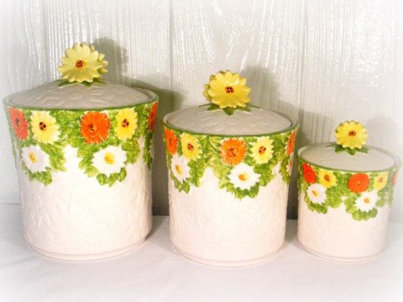 flower canister set lefton canister set ceramic canisters