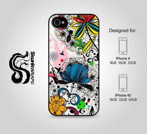Apple iPhone 4 4S Slim Hard Case  -  Wild Flowers