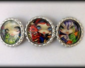 "Jasmine Becket-Griffith  "" Just the Two of Us ""  hair barrette"