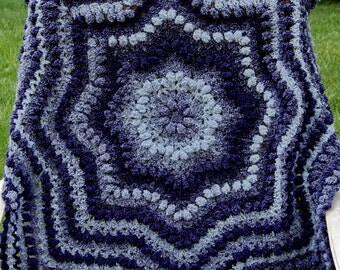 Crochet Baby Blanket Pattern - EASY Ripple Round Afghan - Instant Download PDF Pattern