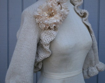 Wedding accessories, bridal shawl, wedding shawl, bolero jacket, wedding dress shawl, bridal gift, winter wedding, unique shawl, handmade