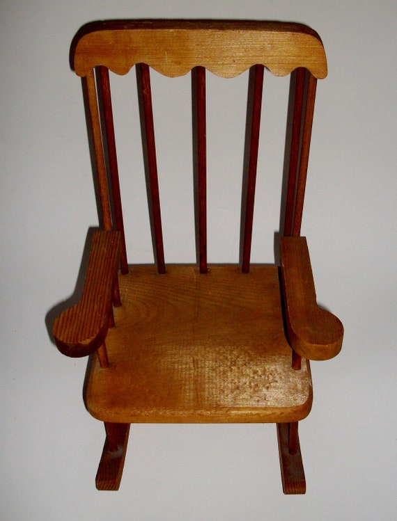 Vintage Doll Chair Wooden Rocking Chair