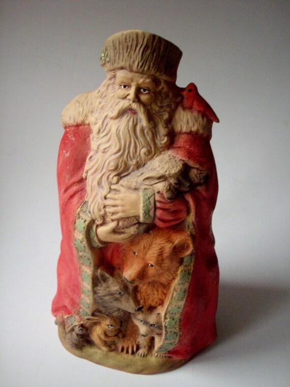 Sale vintage woodland santa figurine provincial mold
