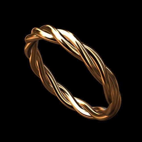Triple Band Bands: Triple Twisted Wedding Ring Infinity Wedding Band