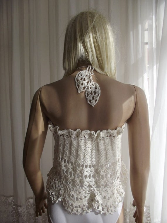 Summer Leaves  -  Beach SKIRT / Crochet Skirt / Wedding Shawl / Crochet CAPELET / Wedding Capelet / Bridal Capelet / Custom Order