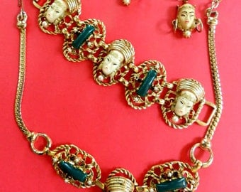 Sought After Vintage Selro Necklace Bracelet Earrings Parure
