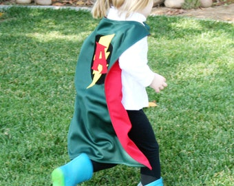 Personalized Childrens Superhero CAPE - Custom Letter Choice - High Quality Gift - Made To Order