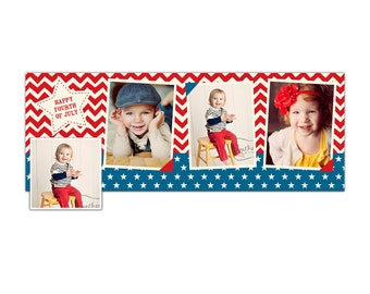 4th of July Facebook  timeline cover - Photoshop Template - E873