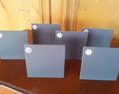 6 self standing mini chalkboards suitable for wedding table numbers, party table names or home decor