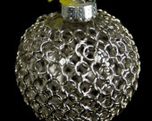 Chainmaille Wrapped Ornament in Silver