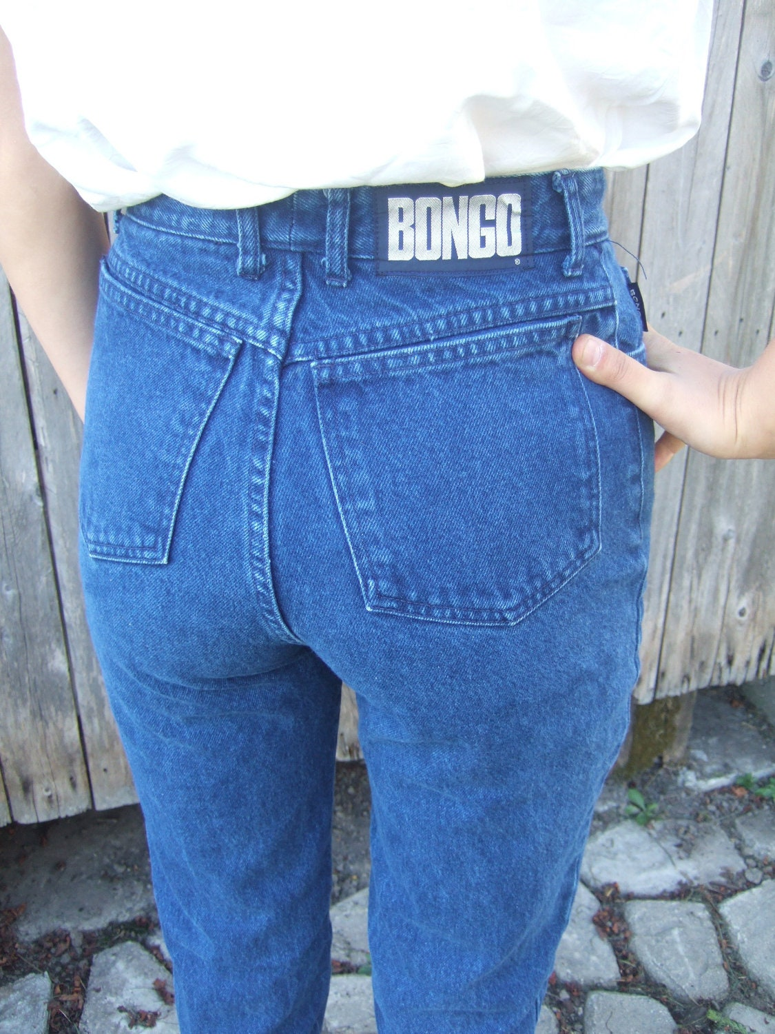 Vintage High Waisted BONGO Dark Colored Tapered by